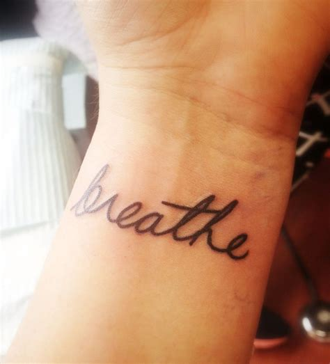 just breathe tattoo on wrist just breathe wrist pictures to pin on pinterest tattooskid