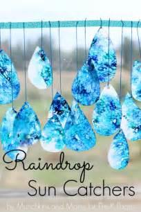 pre k crafts raindrop suncatchers pre k pages