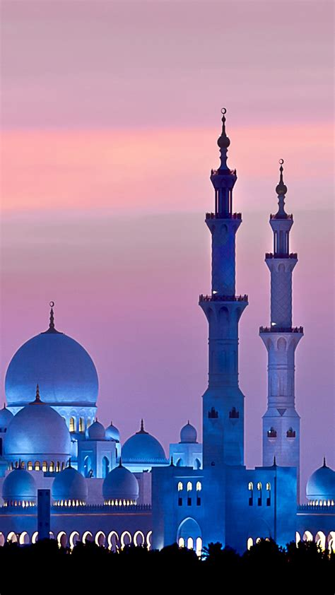 wallpaper sheikh zayed mosque abu dhabi sky sunset