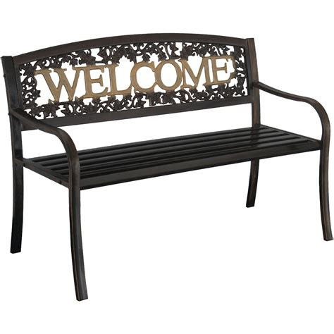 black outdoor bench leigh country welcome bench black gold at garden sensation