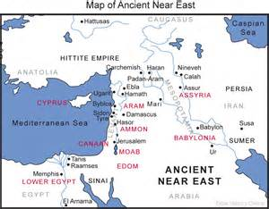 Ancient Near East Map Outline by Map Of The Ancient Near East Bible History