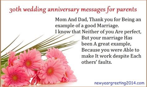 Wedding Anniversary Message For Parents by 30th Wedding Anniversary Messages For Parents