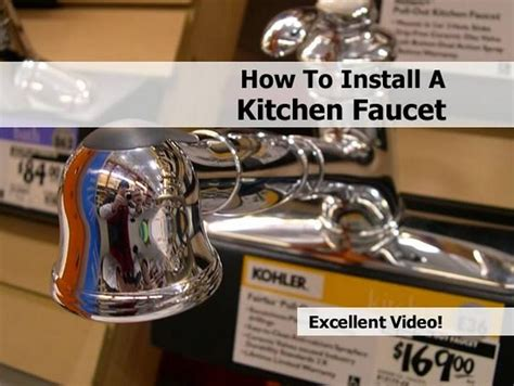 how to install a kitchen faucet happily ever after etc how to install a kitchen faucet