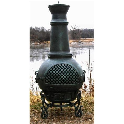 Aluminum Cast Chiminea The Blue Rooster Gatsby Style Cast Aluminum Chiminea With