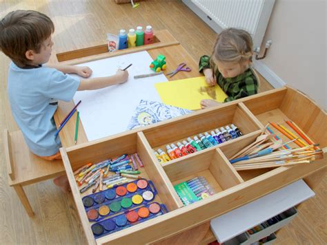 childrens art desk children s arts and crafts table and chairs art and