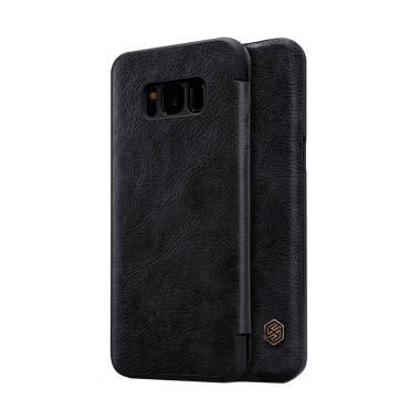 Samsung A8 Hitam jual nillkin qin leather casing for samsung galaxy s8 hitam harga kualitas terjamin