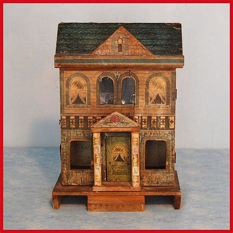 antique lithographed bliss dollhouse dollhouse pinterest