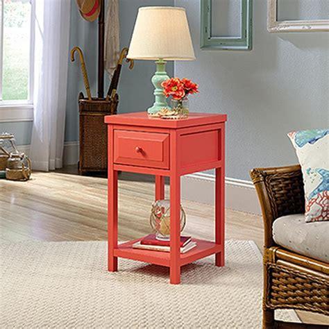 sauder cottage road end table sauder cottage road desert coral end side table 420138