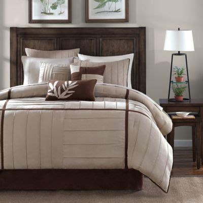 Park Dune Comforter Set by Park Dune 7 Comforter Set In Beige Bed