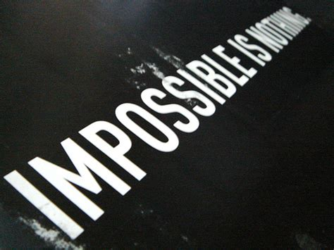 adidas quotes adidas impossible is nothing