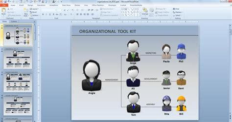 Creative Organization Chart Ideas For Presentations Powerpoint Org Chart Template