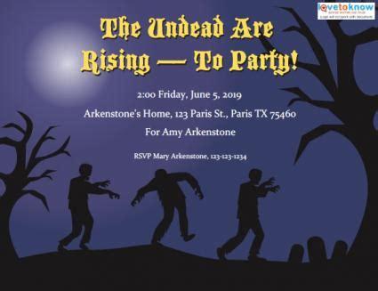 printable zombie birthday party invitations zombie party invitations