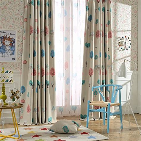 blackout curtains for kids rooms melodieux cartoon trees blackout grommet top curtain