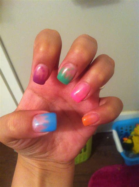 summer gel nails pretty designs