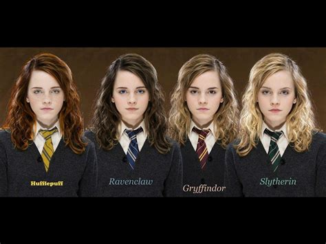 hermione granger house four faces of emma watson altered to fit the hogwarts