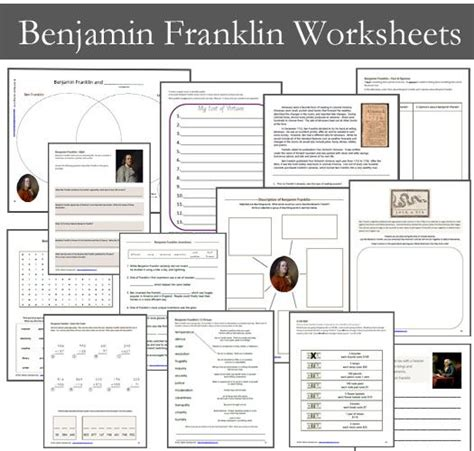 benjamin franklin biography worksheet 10 best ben franklin images on pinterest benjamin