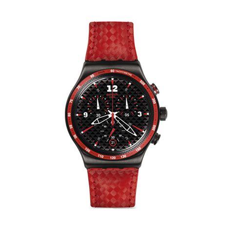 Jam Tangan Pria Leather Swatch jual swatch yvm401 jam tangan pria harga