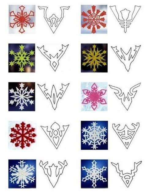 Paper Snowflakes Patterns - 40 paper snowflake garlands for decorating