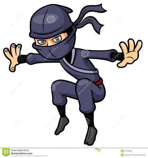 Film Ninja Cartoon | tecknad film ninja vektor illustrationer illustration av