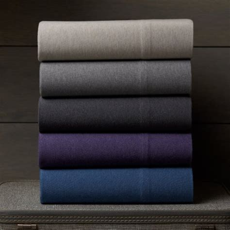Pinzon Heather Jersey Sheet Set Queen Light Grey Heather