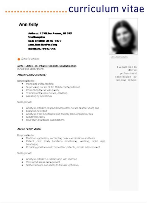 Modelos De Curriculum Vitae Para Rellenar Argentina Modelo De Curriculum Vitae Argentina