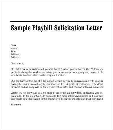 solicitation letter template format