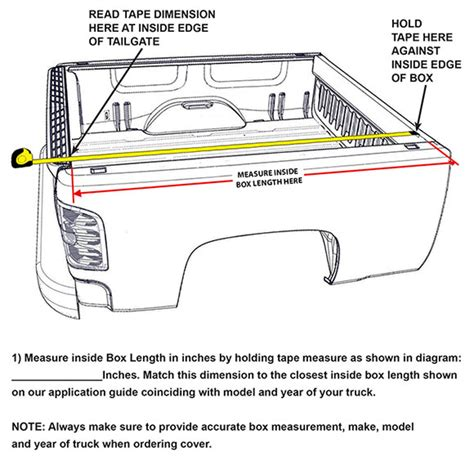 truck bed length pin truck bed size charts on pinterest