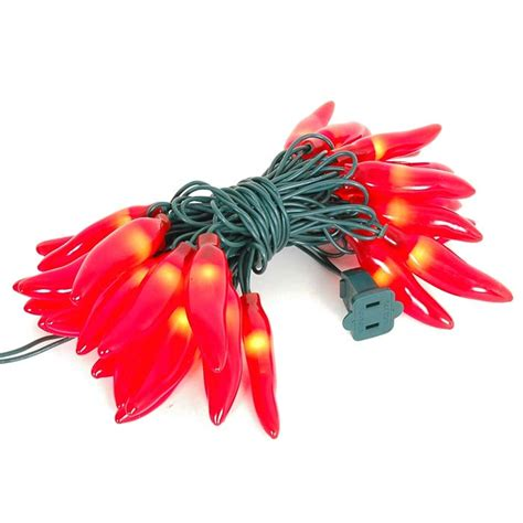chili pepper light string chili pepper light strings with 35 lighted peppers