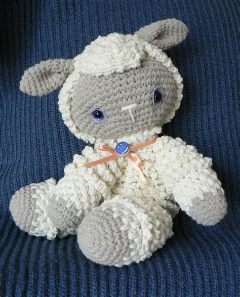 free crochet pattern 80093ad little lamb lion brand yarn crochet little lamb adorable baby crochet pinterest