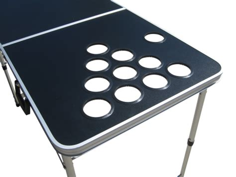 blank black customizable pong table with holes