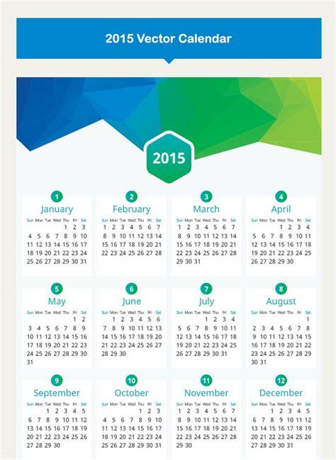 calendar design vector 2015 35 best 2015 calendar vector templates designmaz