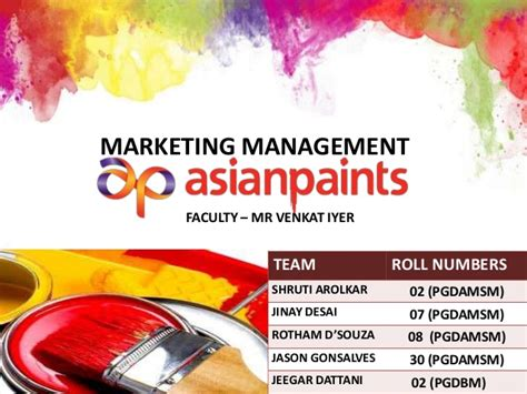In Asian Paints For Mba Marketing by Asian Paints Marketing Ppt