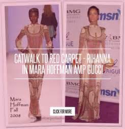 Catwalk To Carpet Alba In Gucci by Catwalk To Carpet Rihanna In Mara Hoffman Gucci