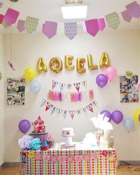 design backdrop ulang tahun anak dekorasi ulang tahun anak perempuan terbaru dekorasi