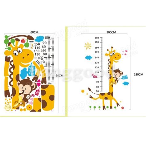 height wall sticker giraffe height measuring wall stickers decorative