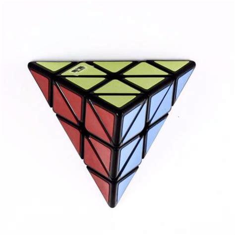 Rubik Pyramid Qiyi Pyraminx Speed Cube Black Base Grosir Qiyi Pyraminx Pyramid Cube Speedcube Pty Ltd