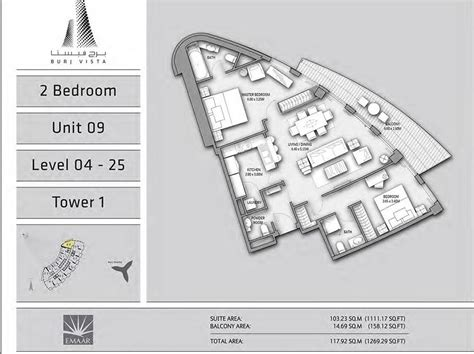 star vista floor plan floor plans burj vista downtown dubai