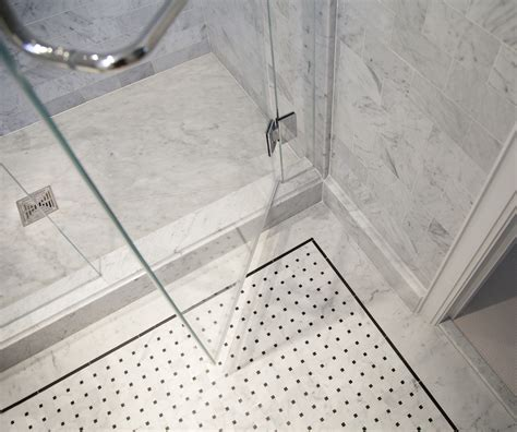 Marble Tile Bathroom Floor Master Bathroom In Carrara Marble Complete Tile