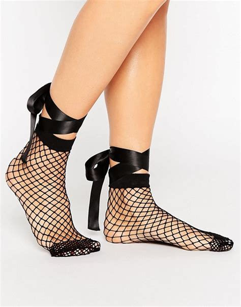 Asos Oversized Fishnet Socks asos asos fishnet bow ankle socks