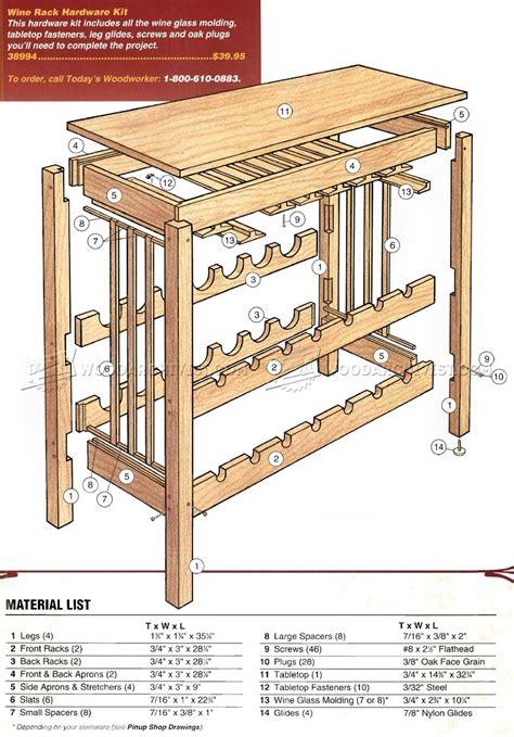 Wine Rack Table Plans wine rack table plans woodarchivist