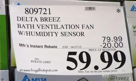 humidity sensing bath fan costco costco sale delta breez bath ventilation system fan