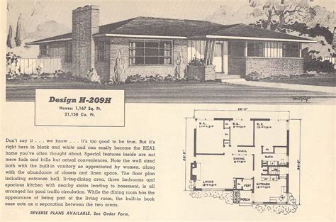 Vintage Ranch House Plans by Vintage House Plans 209h Antique Alter Ego