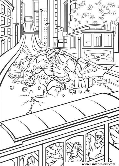 Desenhos Para Pintar e Colorir Hulk - Imprimir Desenho 012