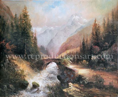reproductions and landscape paintings mountain