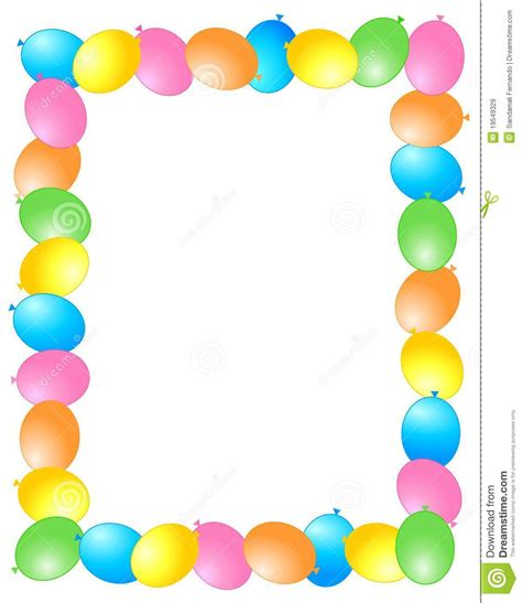balloon border template free frame clipart balloon pencil and in color frame clipart