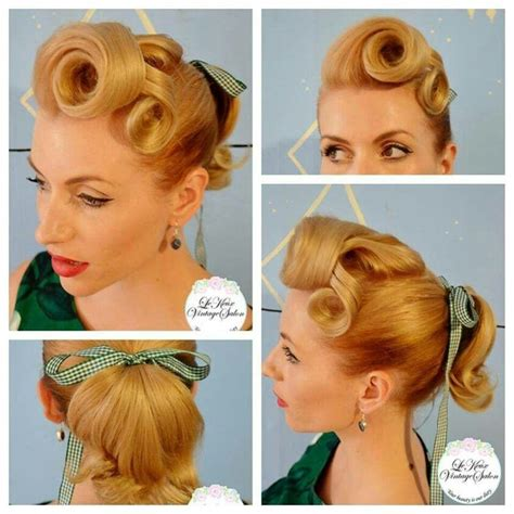 Pin Up Ponytail Hairstyles by Rockabilly Ponytail Hair Make Up Vintage And Otherwise