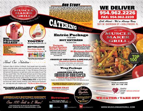 restaurant design maker muscle maker grill menu design printing in miramar fl