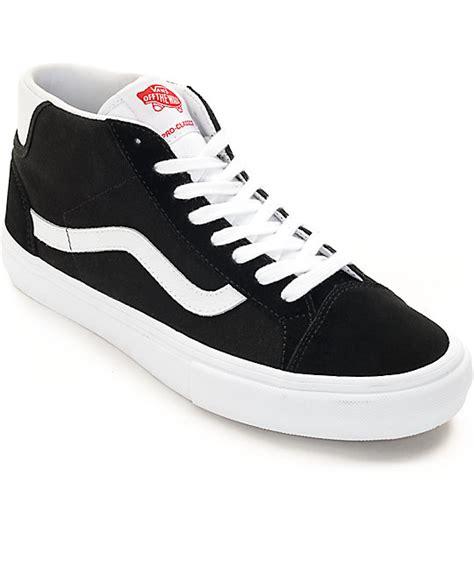 black and white skate shoes vans mid skool pro black white skate shoes zumiez