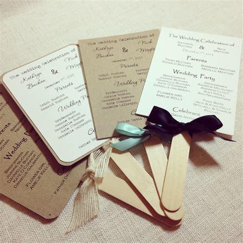 program fans for wedding ceremony blog