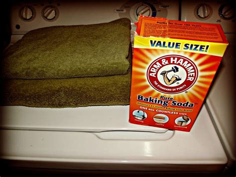 baking soda bathroom odor how to get that funky smell out of your towels with just